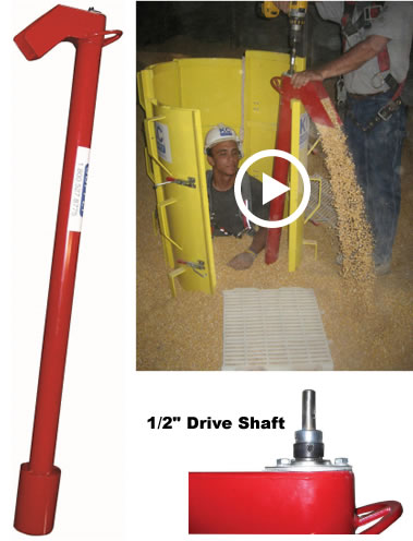 Grain Entrapment Red Rescue Auger from KC Supply Co